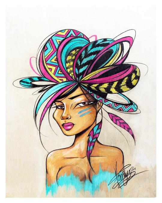 La Reyna_Toofly Painting