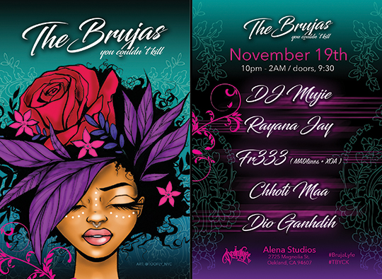 Las Brujas Flyer Design