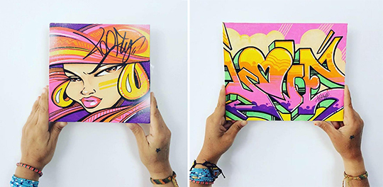 Toofly Graffiti Canvas