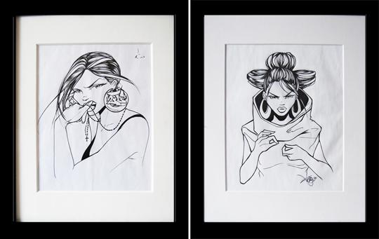Toofly Ink Drawings