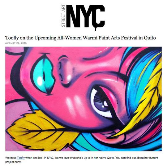 Toofly Street ARt NYC Warmi Paint