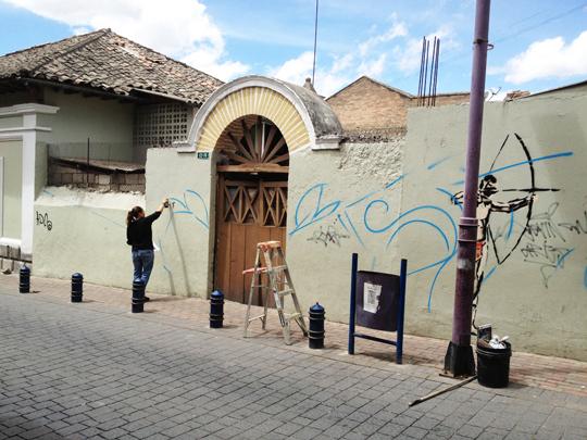 Quito Ecuador Arte Urbana