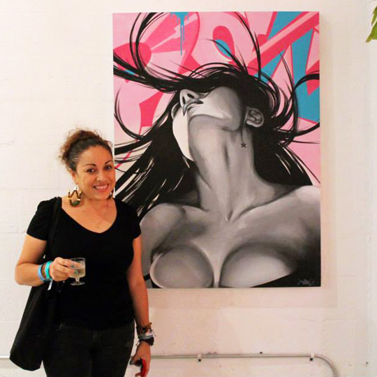 Toofly Woman on the Wall Wynwood