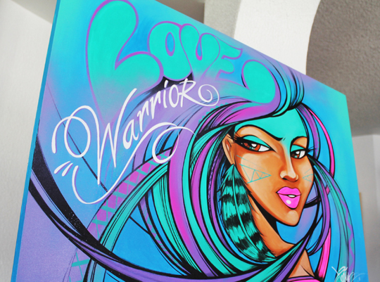 Love Warrior Toofly Painting 8