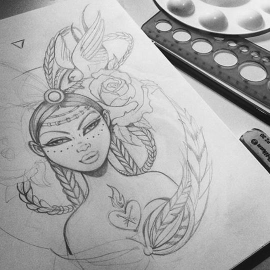 Free Spirit Sketch