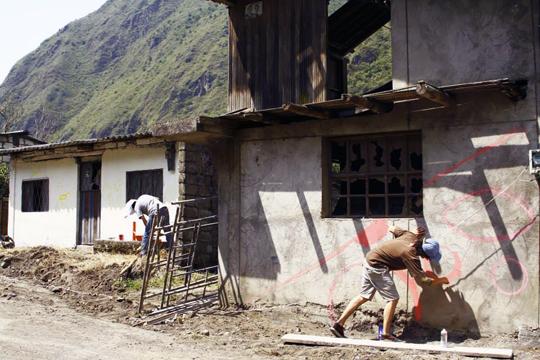Banos Ecuador Graffiti