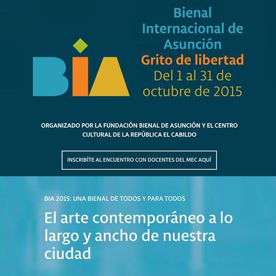 Bienal Asuncion Paraguay 2015