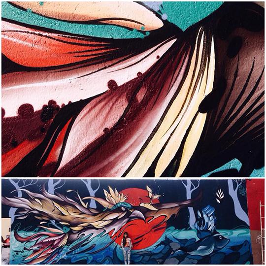 Fio Silva Warmi Paint mural