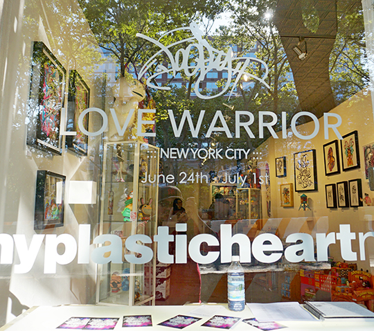 My Plastic Heart Love Warrior Window