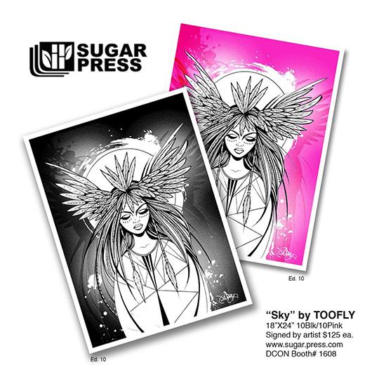 Toofly SUgarPress print Sky