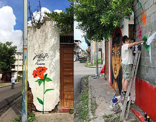 Toofly Panama Mural Process