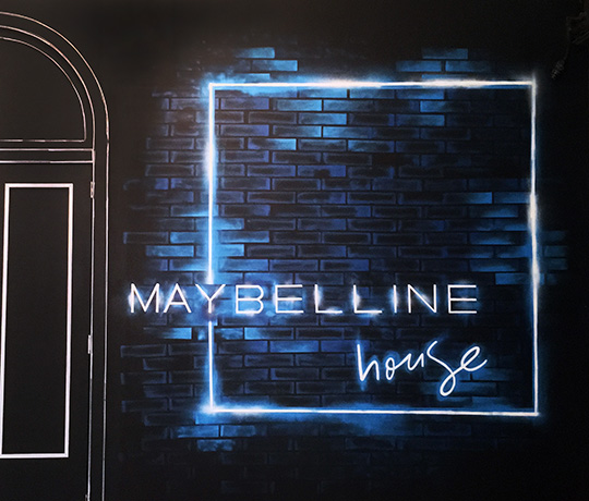 Maybelline House Wall Installation Logo